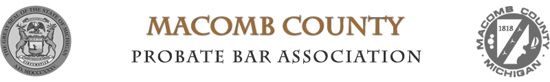 Macomb County Probate Bar Association Logo